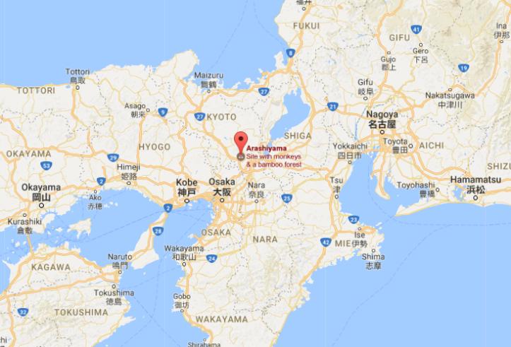 arashimaya map
